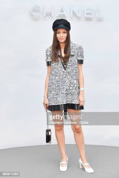 Anna Brewster attends the Chanel Haute Couture Fall/Winter 20182019 show as part of Haute Couture Paris Fashion Week on July 3 2018 in Paris France