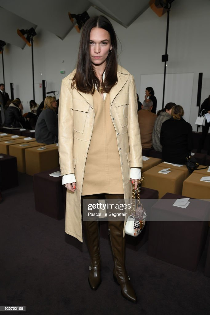 Anna Brewster attends the Chloe show as part of the Paris Fashion Week Womenswear Fall/Winter 2018/2019 on March 1, 2018 in Paris, France.