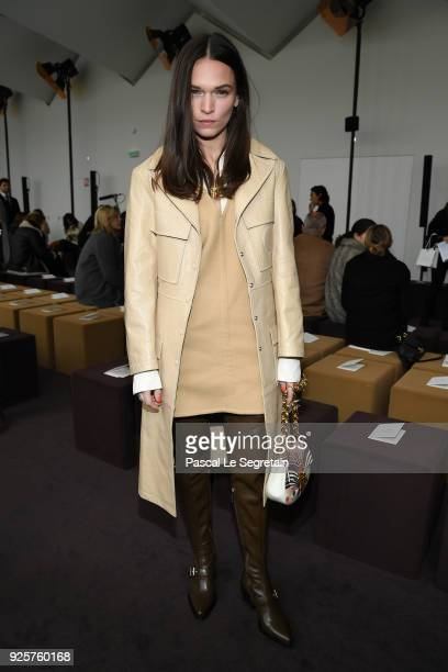 Anna Brewster attends the Chloe show as part of the Paris Fashion Week Womenswear Fall/Winter 2018/2019 on March 1 2018 in Paris France