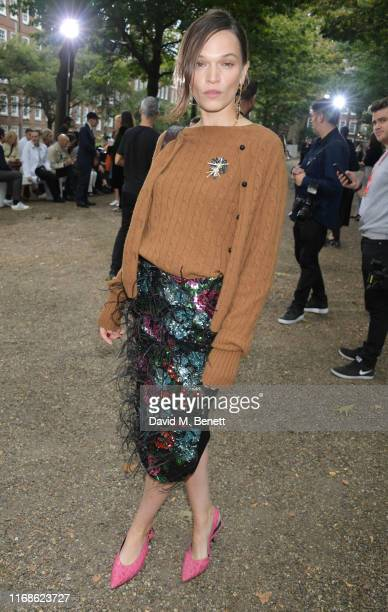 Anna Brewster attends the Erdem front row during London Fashion Week September 2019 at Grays Inn Gardens on September 16 2019 in London England