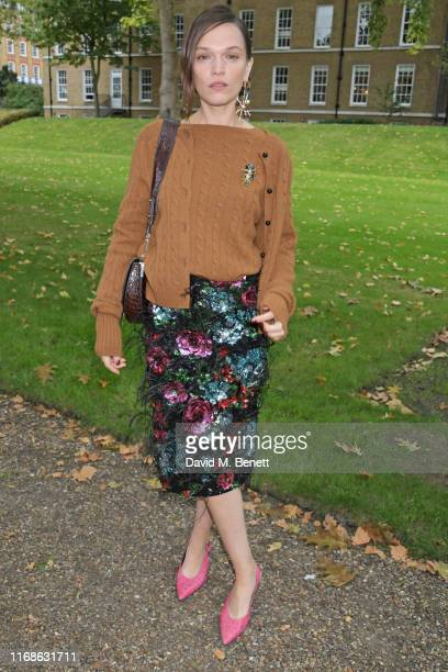 Anna Brewster attends the Erdem front row during London Fashion Week September 2019 at Grays Inn Gardens on September 16, 2019 in London, England.