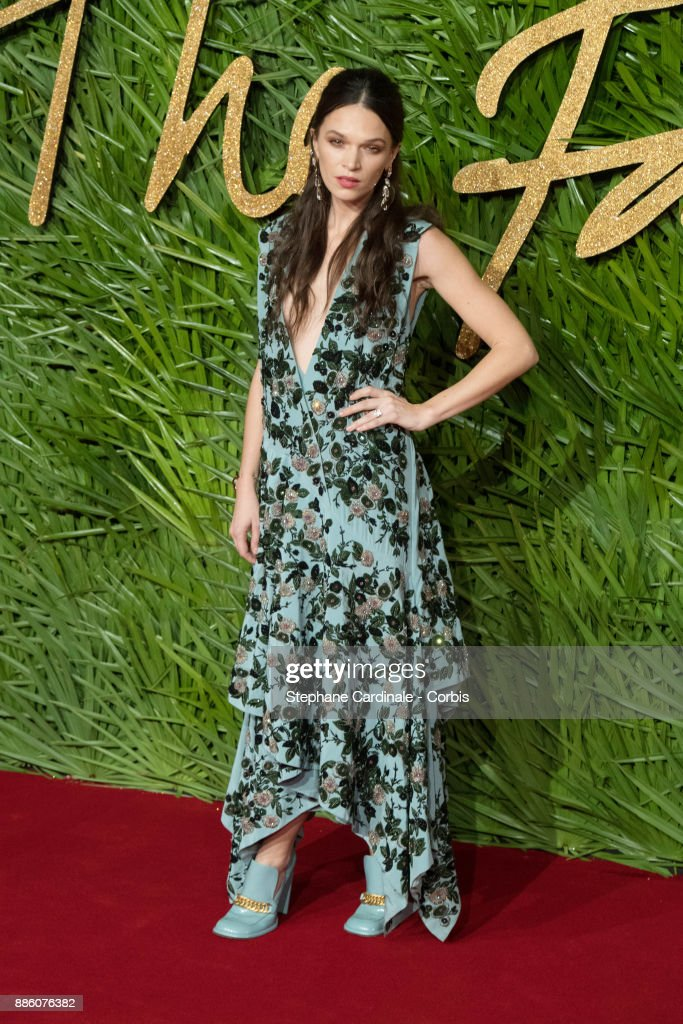 Anna Brewster attends the Fashion Awards 2017 In Partnership With Swarovski at Royal Albert Hall on December 4, 2017 in London, England.