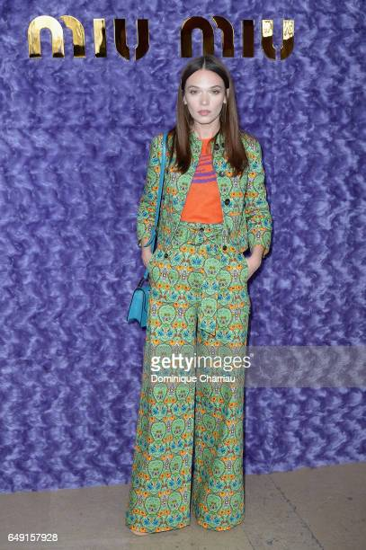Anna Brewster attends the Miu Miu show as part of the Paris Fashion Week Womenswear Fall/Winter 2017/2018 on March 7 2017 in Paris France