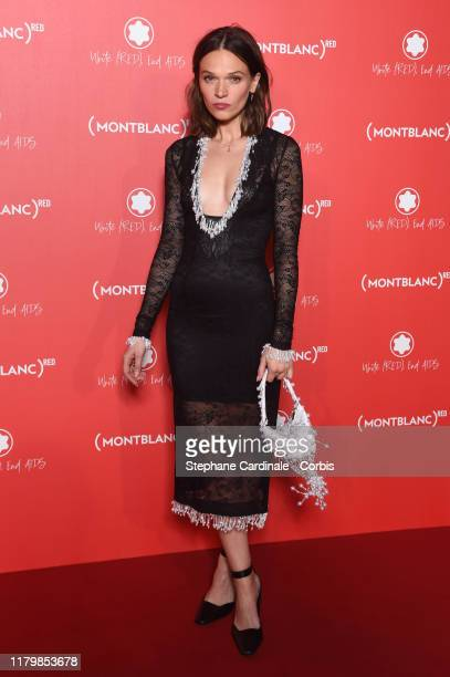 Anna Brewster attends the Montblanc Launch Collection To Benefit RED on October 08 2019 in Paris France