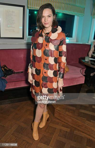 Anna Brewster attends the Mulberry Reflections party celebrating London Fashion Week February 2019 and Mulberry's SS19 collection at Laylow on...
