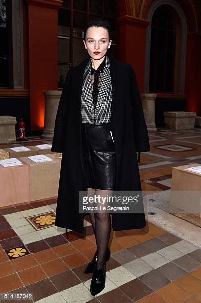 Anna Brewster attends the Sonia Rykiel show as part of the Paris Fashion Week Womenswear Fall/Winter 2016/2017 on March 7 2016 in Paris France