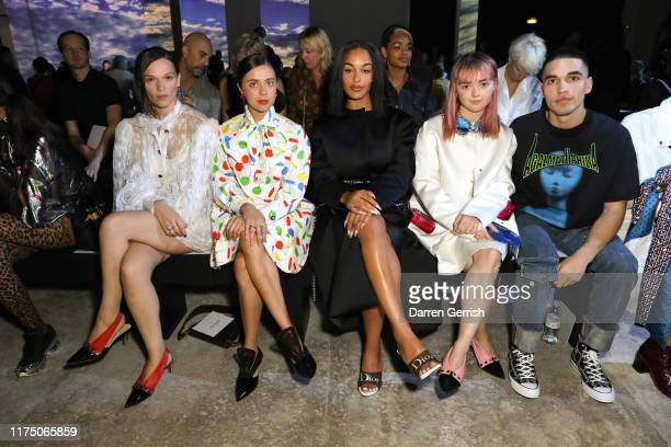 Anna Brewster Bel Powley Jorja Smith Maisie Williams and Reuben Selby attend the Christopher Kane show during London Fashion Week September 2019 on...