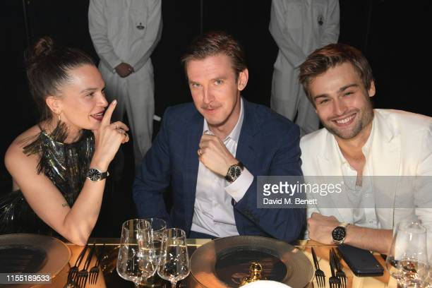 Anna Brewster Dan Stevens and Douglas Booth attend an OMEGA dinner celebrating the 50th anniversary of the Moon Landing at Television Centre on July...
