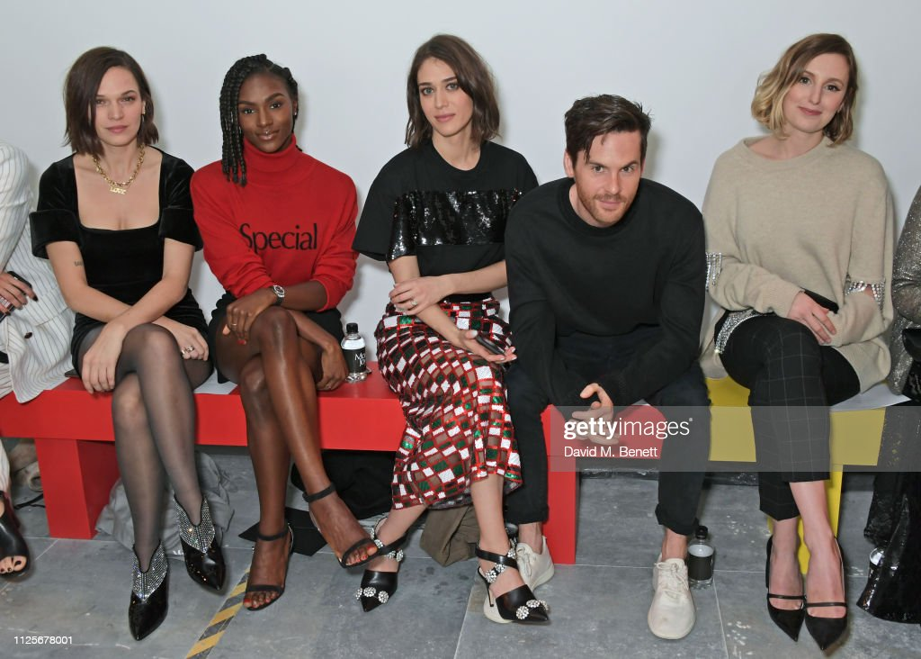 GBR: Christopher Kane - Front Row - LFW February 2019