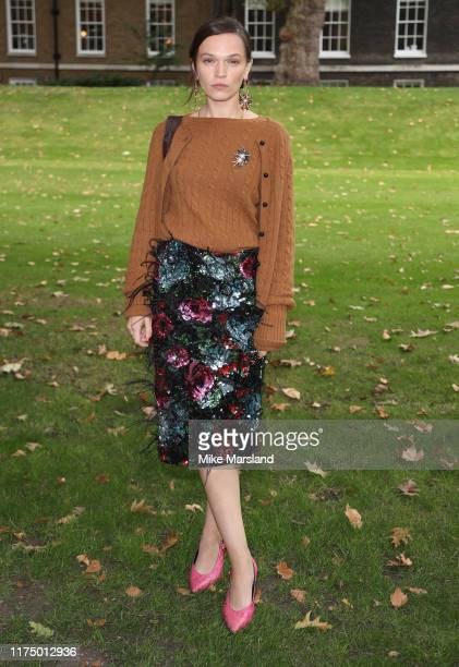 Anna Brewster during London Fashion Week September 2019 on September 16, 2019 in London, England.