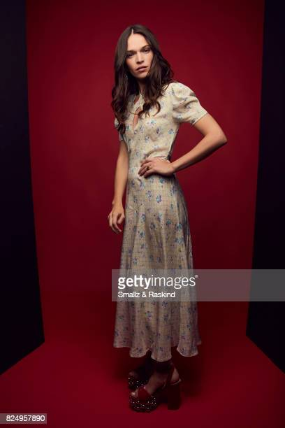 Anna Brewster of Ovation's 'Versailles' pose for a portrait during the 2017 Summer Television Critics Association Press Tour at The Beverly Hilton...
