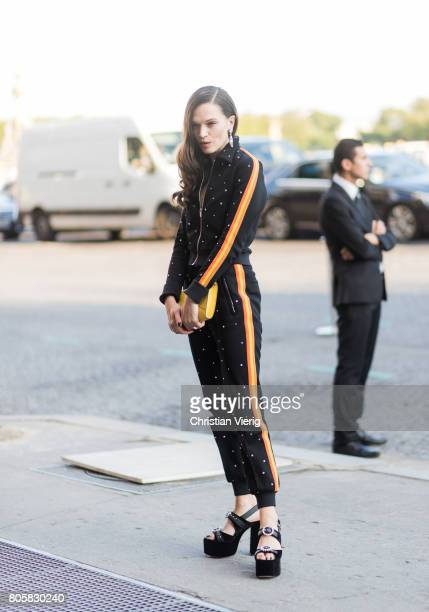 Anna Brewster outside Miu Miu Cruise Collection during Paris Fashion Week Haute Couture Fall/Winter 20172018 Day One on July 2 2017 in Paris France
