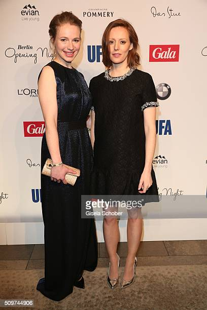 Anna Brueggemann and Lavinia Wilson during the 'Berlin Opening Night of GALA UFA Fiction' at Das Stue Hotel on February 11 2016 in Berlin Germany