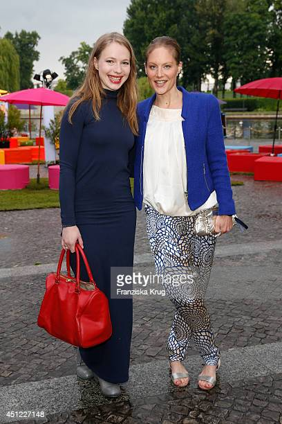 Anna Brueggemann and Tessa Mittelstaedt attend the producer party 2014 of the Alliance German Producer Cinema And Television on June 25 2014 in...