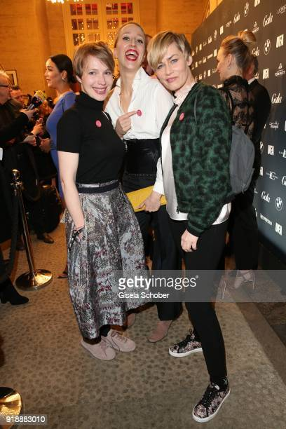 Anna Brueggemann Juliane Elting and Gesine Cukrowski during the Berlin Opening Night by GALA and UFA Fiction at Das Stue on February 15 2018 in...