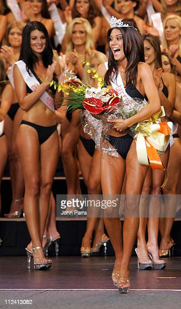 Anna Burns 2005 Miss Hooters Winner during 9th Annual Hooters International Swimsuit Pageant at Jackie Gleason Theatre in Miami United States
