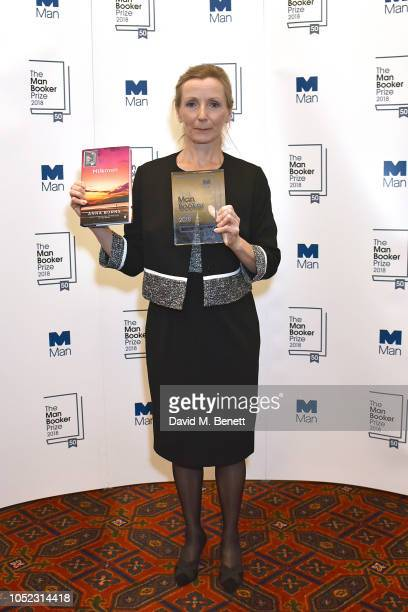 Anna Burns attends the 2018 Man Booker Prize for Fiction winners announcement at The Guildhall on October 16 2018 in London England