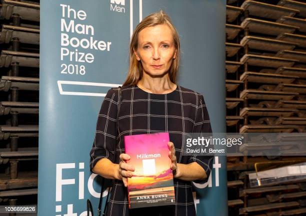 Anna Burns attends the Man Booker Prize 2018 shortlist announcement at The Serpentine Gallery on September 20 2018 in London England