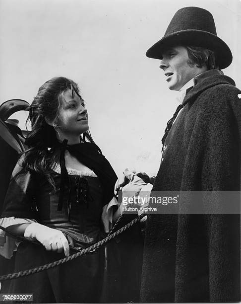 Anna CalderMarshall is attracted to Ian Ogilvy as Edgar in the movie 'Wuthering Heights' circa 1970