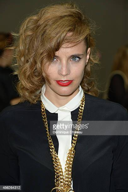 Anna Calvi attends the Chloe show as part of the Paris Fashion Week Womenswear Spring/Summer 2015 on September 28 2014 in Paris France
