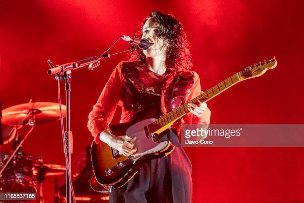 Anna Calvi performing on the Open Air Stage at Womad Charlton Park Malmesbury United Kingdom on 27 July 2019