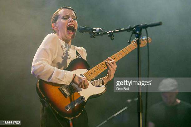 Anna Calvi performs at Islington Assembly Hall on October 8 2013 in London England