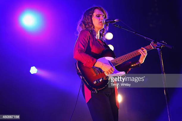 Anna Calvi performs at The Isle of Wight Festival at Seaclose Park on June 13 2014 in Newport Isle of Wight