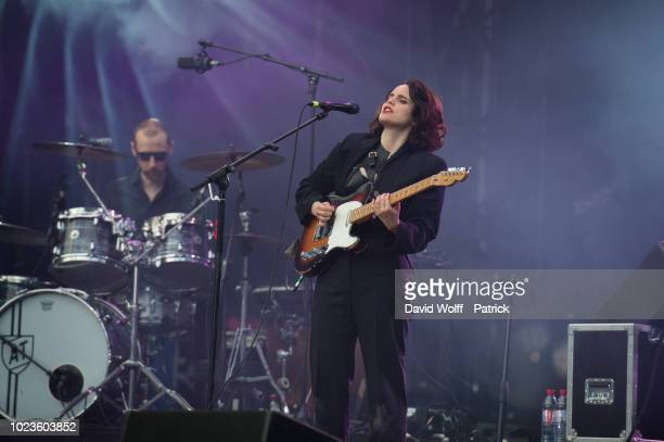 Anna Calvi performs during Rock en Seine Festival on August 25 2018 in SaintCloud France