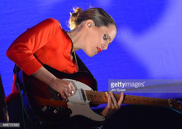Anna Calvi performs live on stage at 02 Arena on November 29 2014 in London England