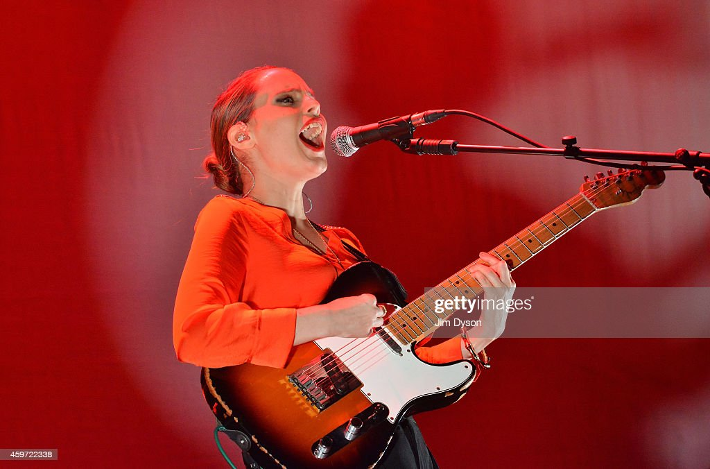 Anna Calvi performs live on stage at 02 Arena on November 29, 2014 in London, England.