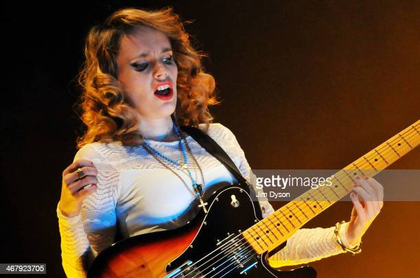 Anna Calvi performs live on stage at the Troxy on February 8 2014 in London United Kingdom