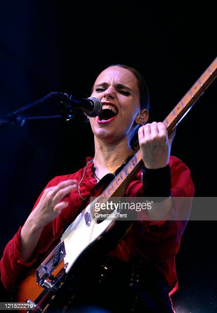 Anna Calvi performs on day one of Lowlands Festival on August 19, 2011 in Biddinghuizen, Netherlands.