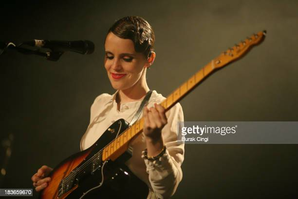 Anna Calvi performs on stage at Islington Assembly Hall on October 8 2013 in London England
