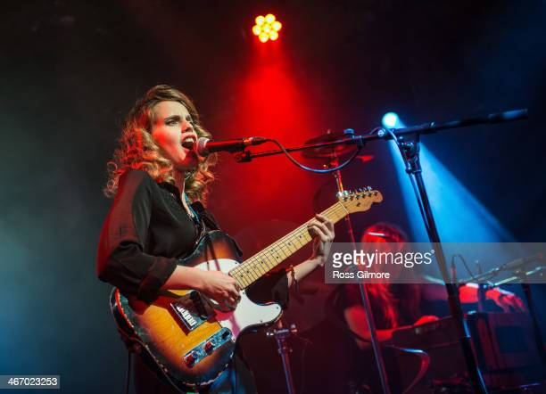 Anna Calvi performs on stage at The Arches on February 5 2014 in Glasgow United Kingdom