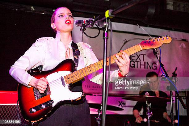 Anna Calvi performs on stage at the HMV Next Big Thing show at Camden Barfly on February 4 2011 in London England