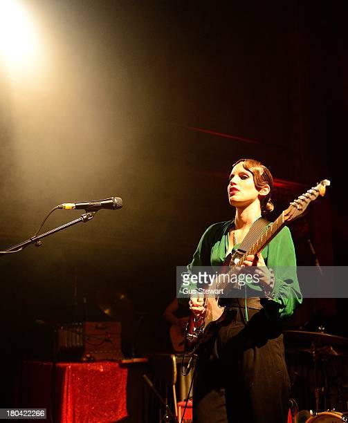 Anna Calvi performs on stage at Wilton's Music Hall on September 12 2013 in London England