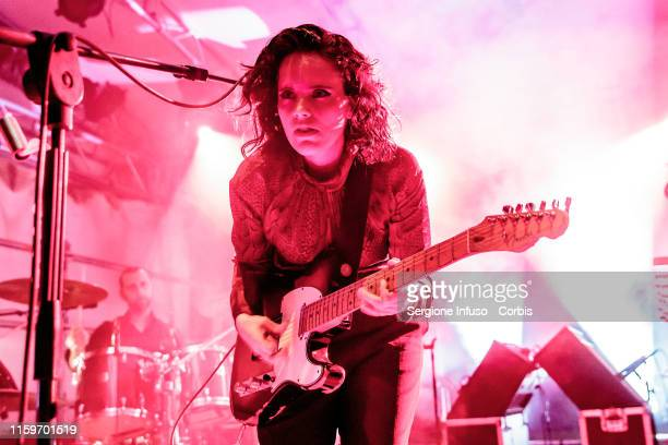 Anna Calvi performs on stage during the Unaltrofestival at Circolo Magnolia on July 2 2019 in Milan Italy