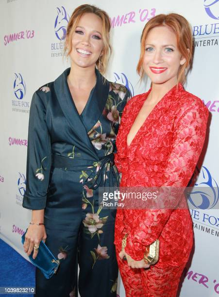 "Anna Camp and Brittany Snow attend the premiere of Blue Fox Entertainment's ""Summer '03"" at the Vista Theatre on September 24, 2018 in Los Angeles,..."