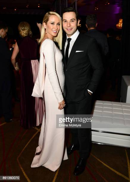Anna Camp and Skylar Astin attend the after party for the premiere of Universal Pictures' Pitch Perfect 3 on December 12 2017 in Hollywood California