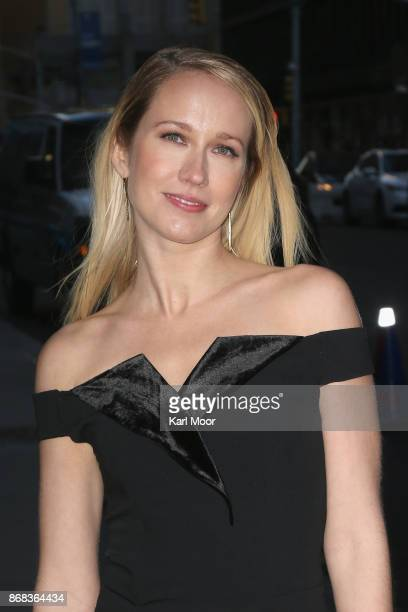 Anna Camp arrives for her appearance on 'The Late Show With Stephen Colbert' at Ed Sullivan Theater on October 30 2017 in New York City