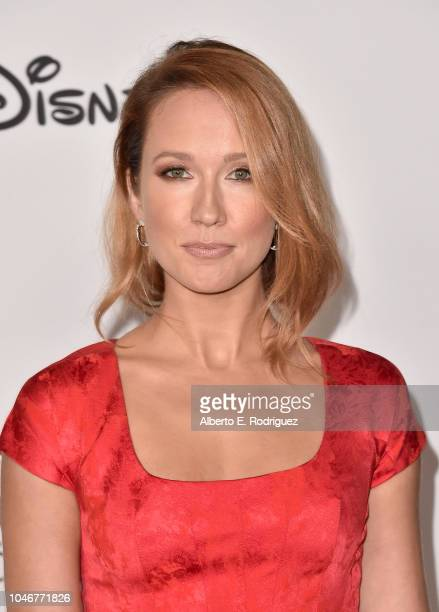 Anna Camp attends Mickey's 90th Spectacular at The Shrine Auditorium on October 6 2018 in Los Angeles California