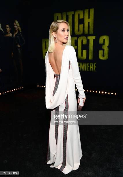 Anna Camp attends the premiere of Universal Pictures' 'Pitch Perfect 3' at Dolby Theatre on December 12 2017 in Hollywood California