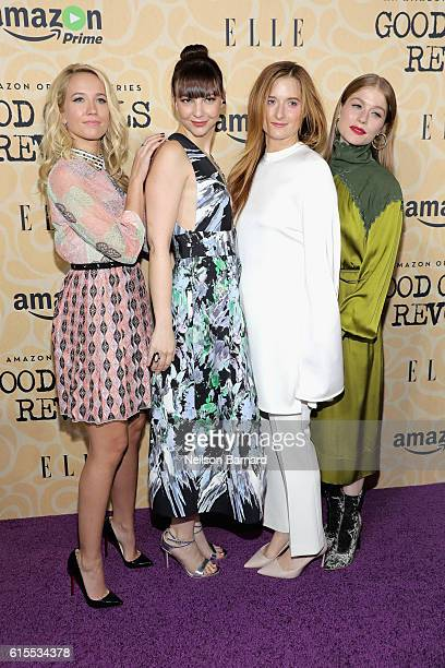 Anna Camp Erin Darke Grace Gummer and Genevieve Angelson attend the Good Girls Revolt New York Screening at the Joseph Urban Theater at Hearst Tower...