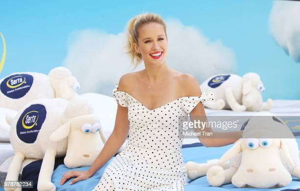 Anna Camp joins Serta Mattress to announce nationwide Instagram sweepstakes held at Hollywood Highland courtyard on June 19 2018 in Hollywood...