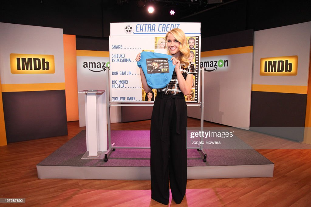 Anna Camp On The Set Of Her Live Interview With Amazon And IMDb