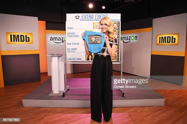 Anna Camp on the set of her live interview with amazon and IMDb on November 17 2015 in New York City