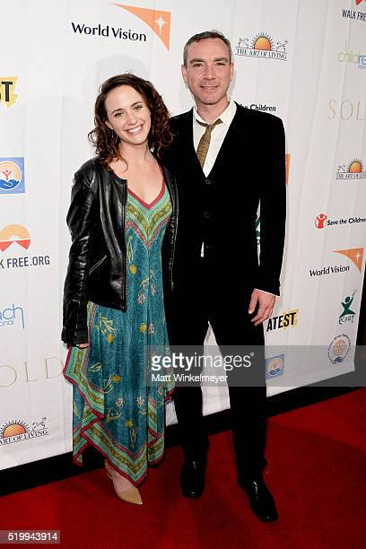 Anna Campbell and Richard Matson attend the 'SOLD' Los Angeles Theatrical Premiere at Laemmle Monica Film Center on April 8 2016 in Santa Monica...