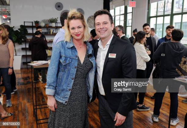 Anna Caplan and Eric Black attend the AD Bon Appetit and Delta Faucet toast of the Conde Nast Kitchen Studio on May 17 2018 in New York City