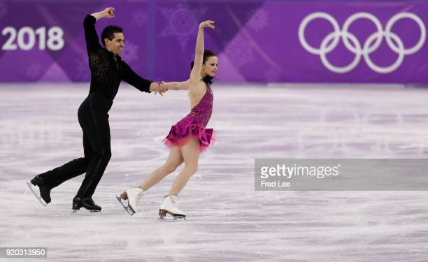 Anna Cappellini and Luca Lanotte of Italy compete during the Figure Skating Ice Dance Short Dance on day 10 of the PyeongChang 2018 Winter Olympic...