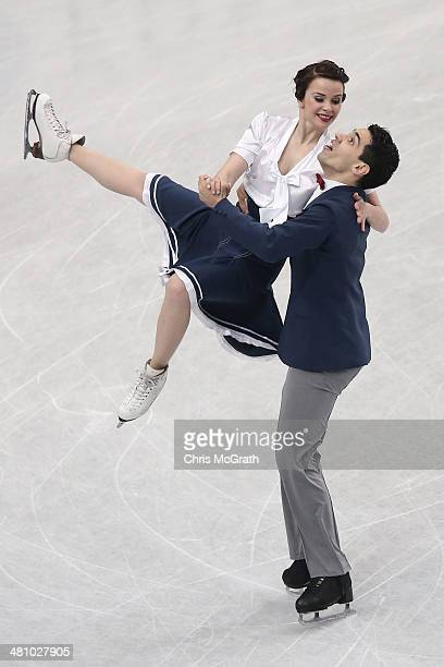 Anna Cappellini and Luca Lanotte of Italy compete in the Ice Dance Short Dance during ISU World Figure Skating Championships at Saitama Super Arena...